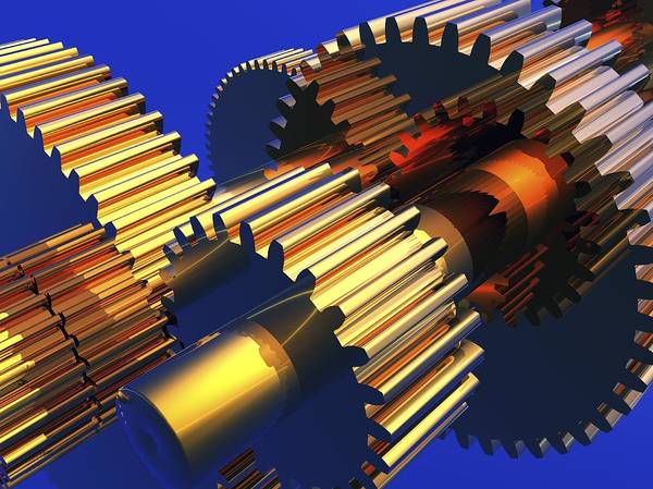Gear Wheel Poster featuring the photograph Gear Wheels, Artwork by Pasieka