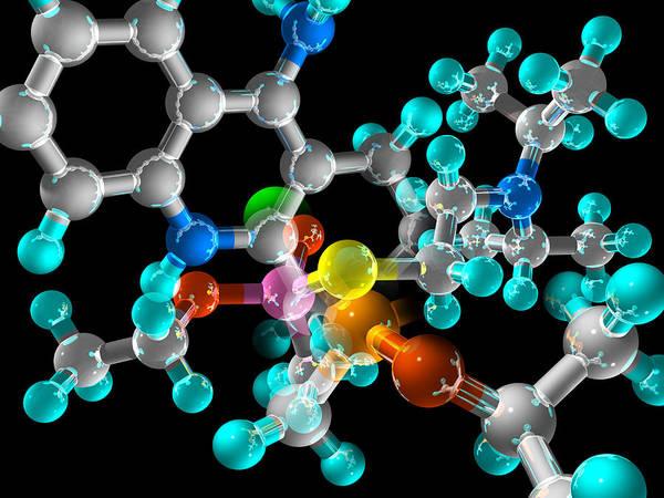 Molecule Poster featuring the photograph Generic Molecule by Laguna Design