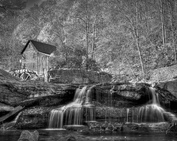 West Virginia Poster featuring the photograph Glade Creek Grist Mill At Babcock by Williams-Cairns Photography LLC