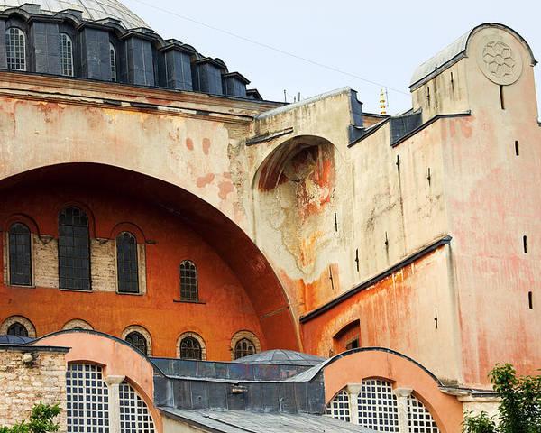 Ayasofya Poster featuring the photograph Hagia Sophia Byzantine Architecture by Artur Bogacki