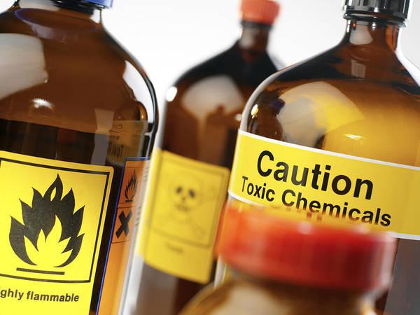 Jar Poster featuring the photograph Hazardous Chemicals by Tek Image