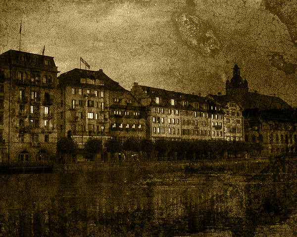 Urban Poster featuring the photograph Hotel Schiff by Ron Jones