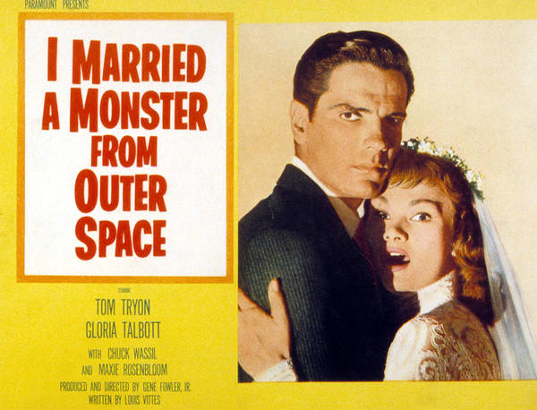 1950s Poster Art Poster featuring the photograph I Married A Monster From Outer Space by Everett