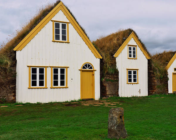 Iceland Poster featuring the photograph Icelandic Turf Houses by Ivan Slosar