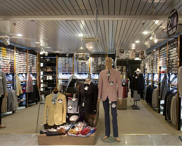 Retail Poster featuring the photograph Italian Fashion Shop For Men Tallinn by Jaak Nilson