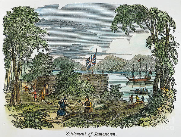 1607 Poster featuring the photograph Jamestown by Granger