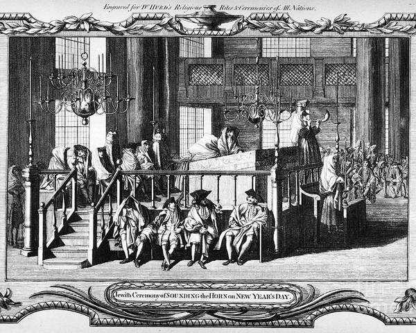 18th Century Poster featuring the photograph Jewish Life, 18th Century by Granger