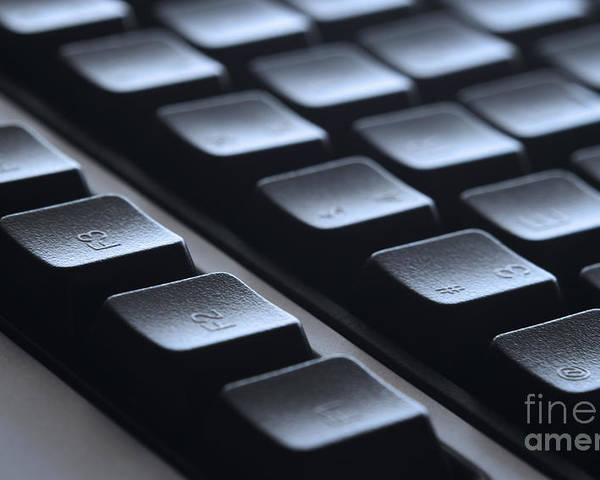 Keyboard Poster featuring the photograph Keyboard by Blink Images