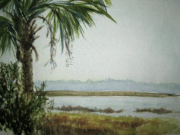 Landscape Poster featuring the painting Kiawah Island S.c. by Jody Gould
