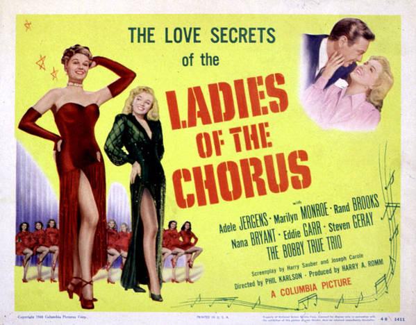 1940s Movies Poster featuring the photograph Ladies Of The Chorus, Adele Jergens by Everett