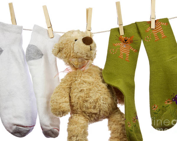 Socks Poster featuring the photograph Laundry by Blink Images