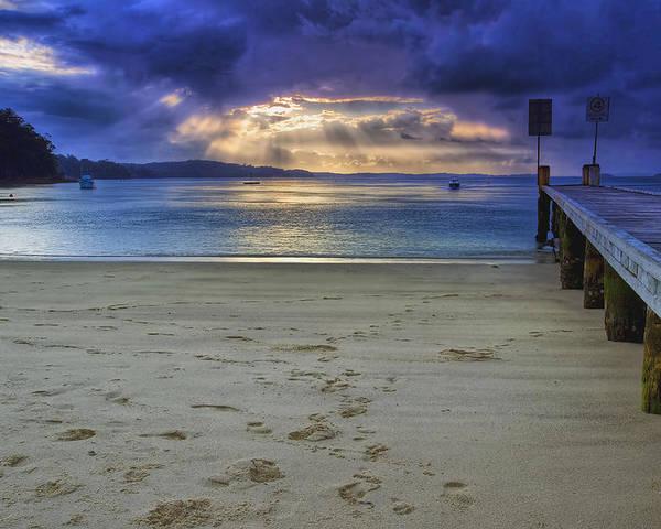 Sunset Poster featuring the photograph Little Beach Sunset by Paul Svensen