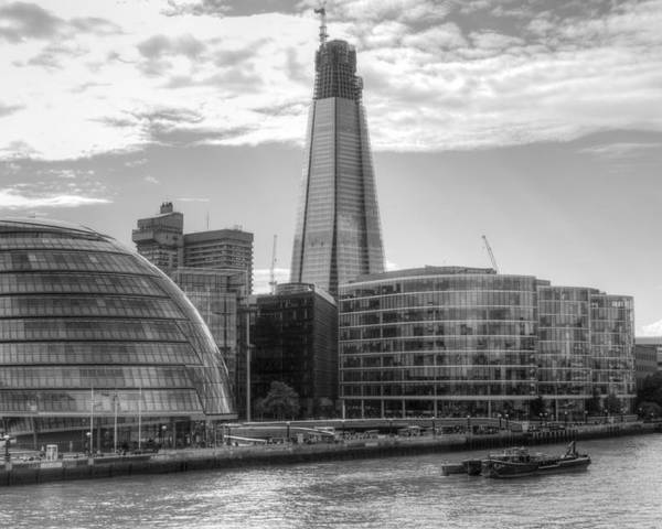 Shard Poster featuring the photograph London Assembly and Shard by Chris Day