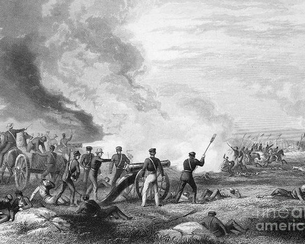 1846 Poster featuring the photograph Mexican War: Palo Alto by Granger