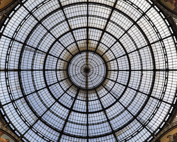 Glass Roof Poster featuring the photograph Milan Galleria Vittorio Emanuele II by Joana Kruse