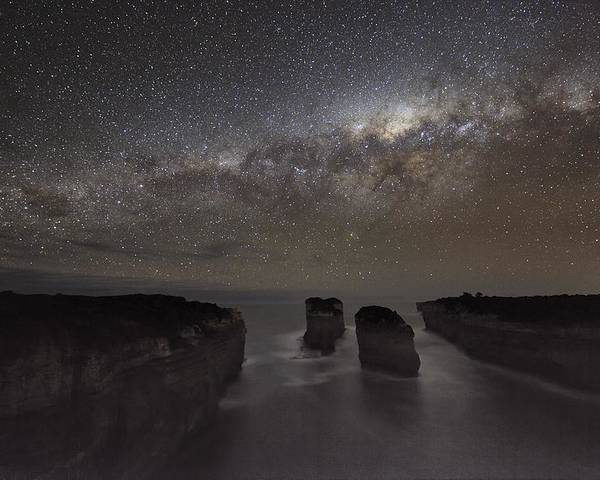 Milky Way Poster featuring the photograph Milky Way Over Shipwreck Coast by Alex Cherney, Terrastro.com