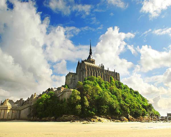 Mont Poster featuring the photograph Mont Saint Michel by Elena Elisseeva