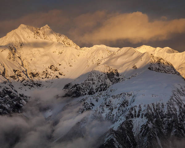 00498864 Poster featuring the photograph Mount Rolleston At Dawn Arthurs Pass Np by Colin Monteath