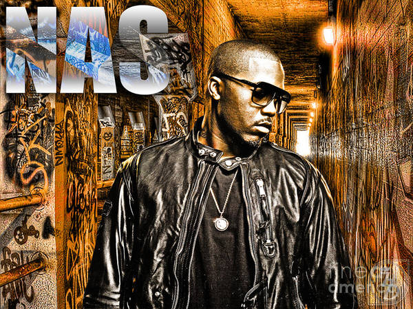 Nas Poster featuring the digital art Nas by The DigArtisT