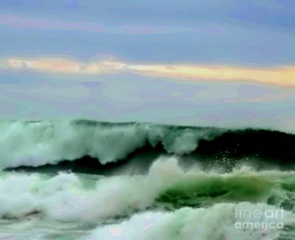 Blair Stuart Poster featuring the digital art Ocean Power by Blair Stuart