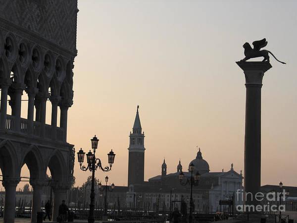 Lion De Venise Poster featuring the photograph Piazetta. Venice by Bernard Jaubert