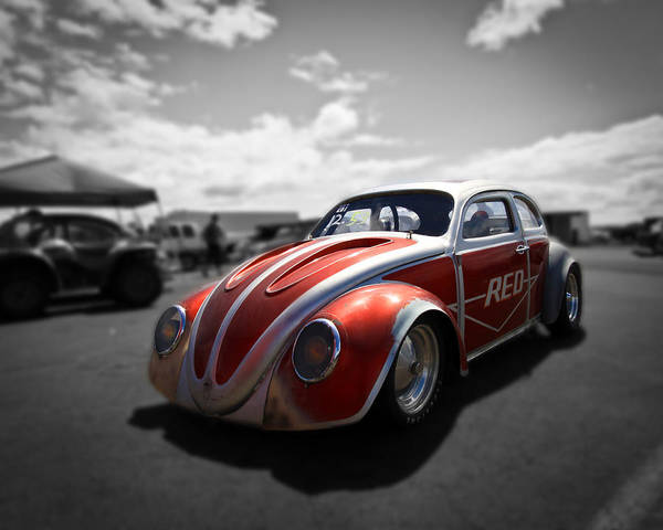 Vw Bug Poster featuring the photograph Race Ready by Steve McKinzie
