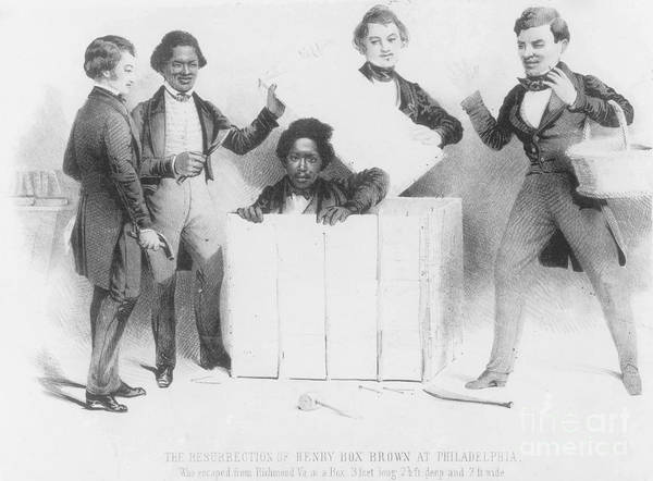 Henry Brown Poster featuring the photograph Resurrection Of Henry Box Brown by Photo Researchers