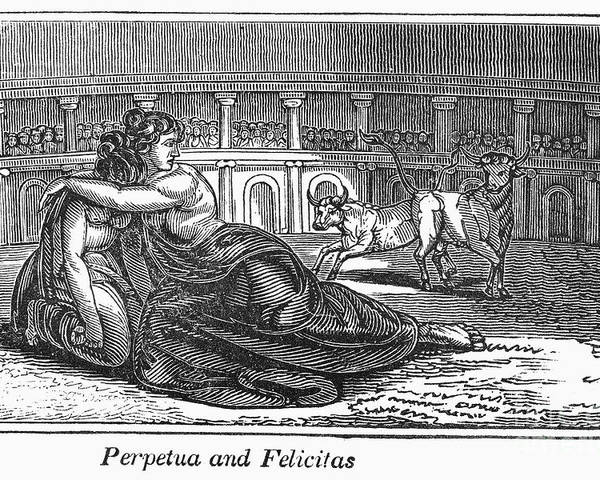 203 Poster featuring the photograph Rome: Perpetua & Felicitas by Granger
