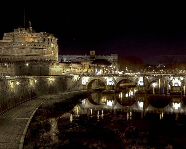 Angelo Poster featuring the photograph Rome Ponte San Angelo by Joana Kruse