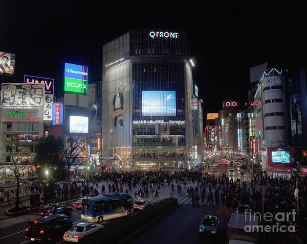 Advertisement Poster featuring the photograph Shibuya Crossing by Ei Katsumata