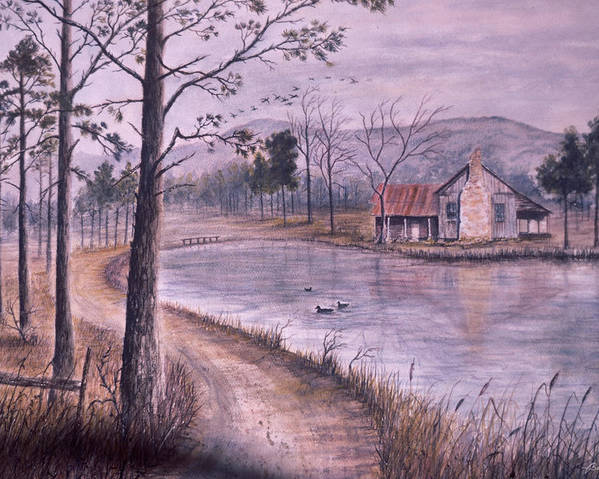 Morning Poster featuring the painting South Carolina Morning by Ben Kiger