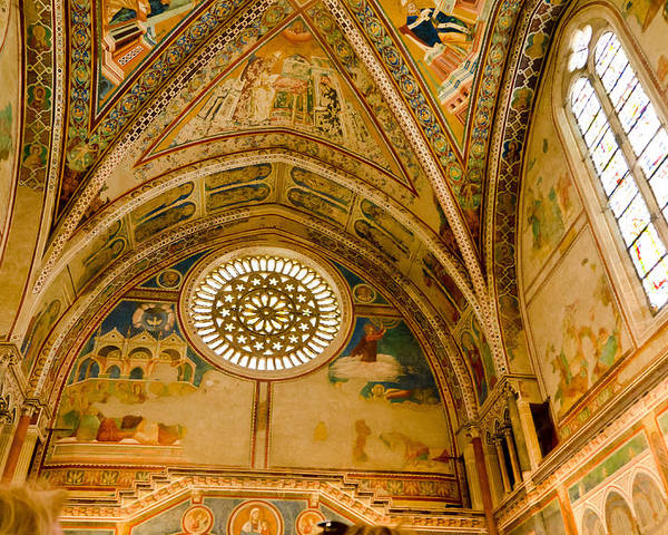 St Francis Basilica Assisi Italy Poster featuring the photograph St Francis Basilica  Assisi Italy by Jon Berghoff