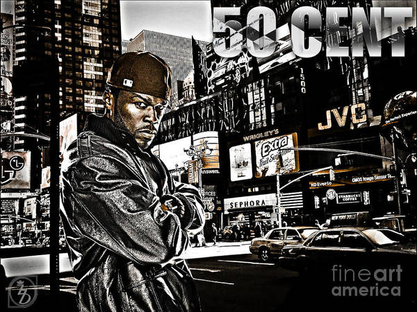 50 Cent Poster featuring the digital art Street Phenomenon 50 Cent by The DigArtisT