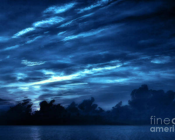 Sunrise Poster featuring the photograph Sunrise In Blue by Jeff Breiman