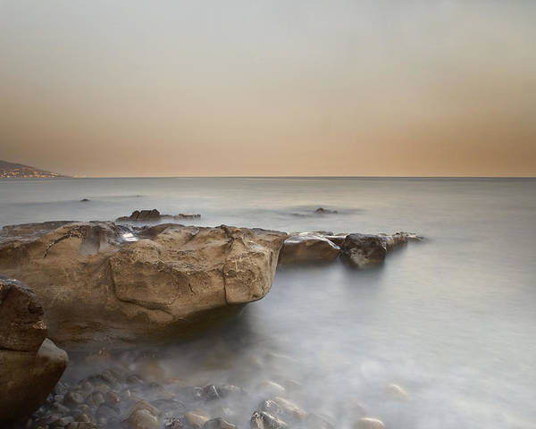 Bussana Poster featuring the photograph Sunset On The Mediterranean by Joana Kruse