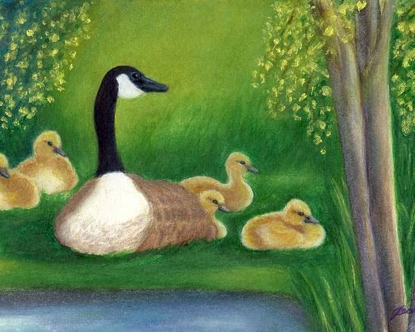Canada Goose Poster featuring the painting Sweet Repose by Jeanne Kay Juhos
