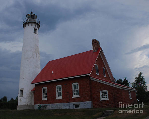 Lighthouse Poster featuring the photograph Tawas Point Lighthouse by Grace Grogan