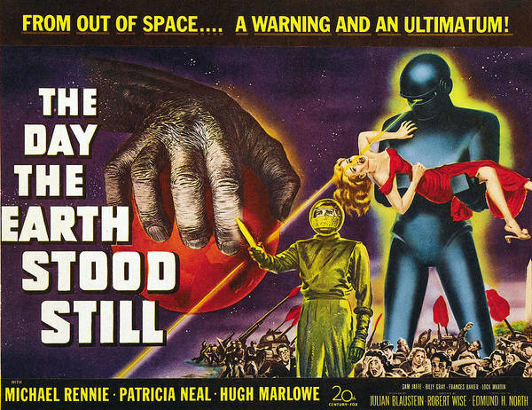 1950s Poster Art Poster featuring the photograph The Day The Earth Stood Still, 1951 by Everett