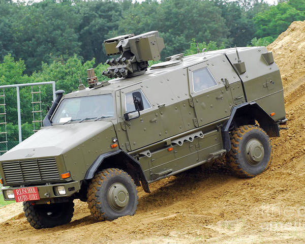 4x4 Poster featuring the photograph The Dingo 2 Mppv Of The Belgian Army by Luc De Jaeger