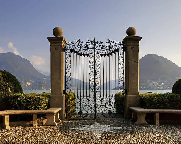 Lugano Poster featuring the photograph The Gateway To Lago Di Lugano by Joana Kruse