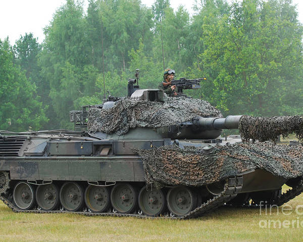 Military Poster featuring the photograph The Leopard 1a5 Main Battle Tank by Luc De Jaeger