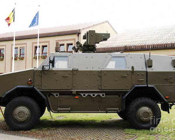 Armament Poster featuring the photograph The Multi-purpose Protected Vehicle by Luc De Jaeger