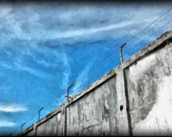 Prison Poster featuring the photograph The Prison Walls by Antoni Halim