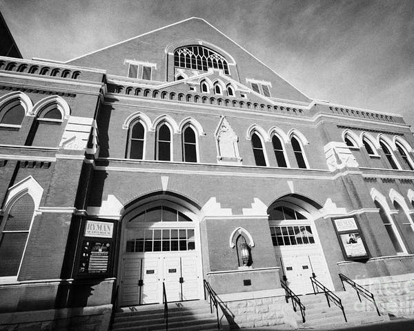 Ryman Poster featuring the photograph The Ryman Auditorium Former Home Of The Grand Ole Opry And Gospel Union Tabernacle Nashville by Joe Fox