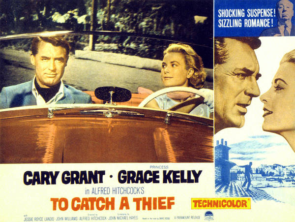 1950s Movies Poster featuring the photograph To Catch A Thief, Poster Art, Cary by Everett