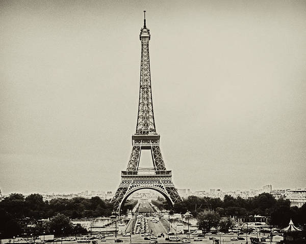 Horizontal Poster featuring the photograph Tour Eiffel - Eiffel Tower by Ruy Barbosa Pinto