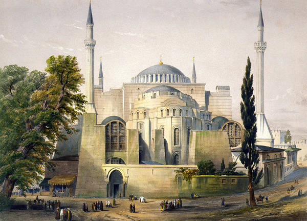 1852 Poster featuring the photograph Turkey: Hagia Sophia, 1852 by Granger