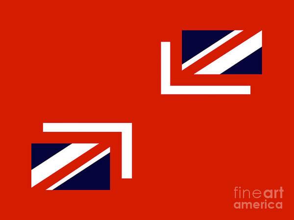 Union Jack Flag. Union Jacks Poster featuring the digital art Jax by John Albury