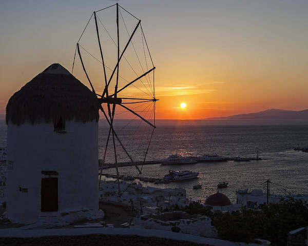 Ano Myli Poster featuring the photograph Mykonos by Joana Kruse