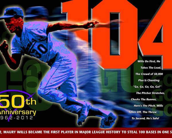 104 Poster featuring the digital art 104 by Ron Regalado